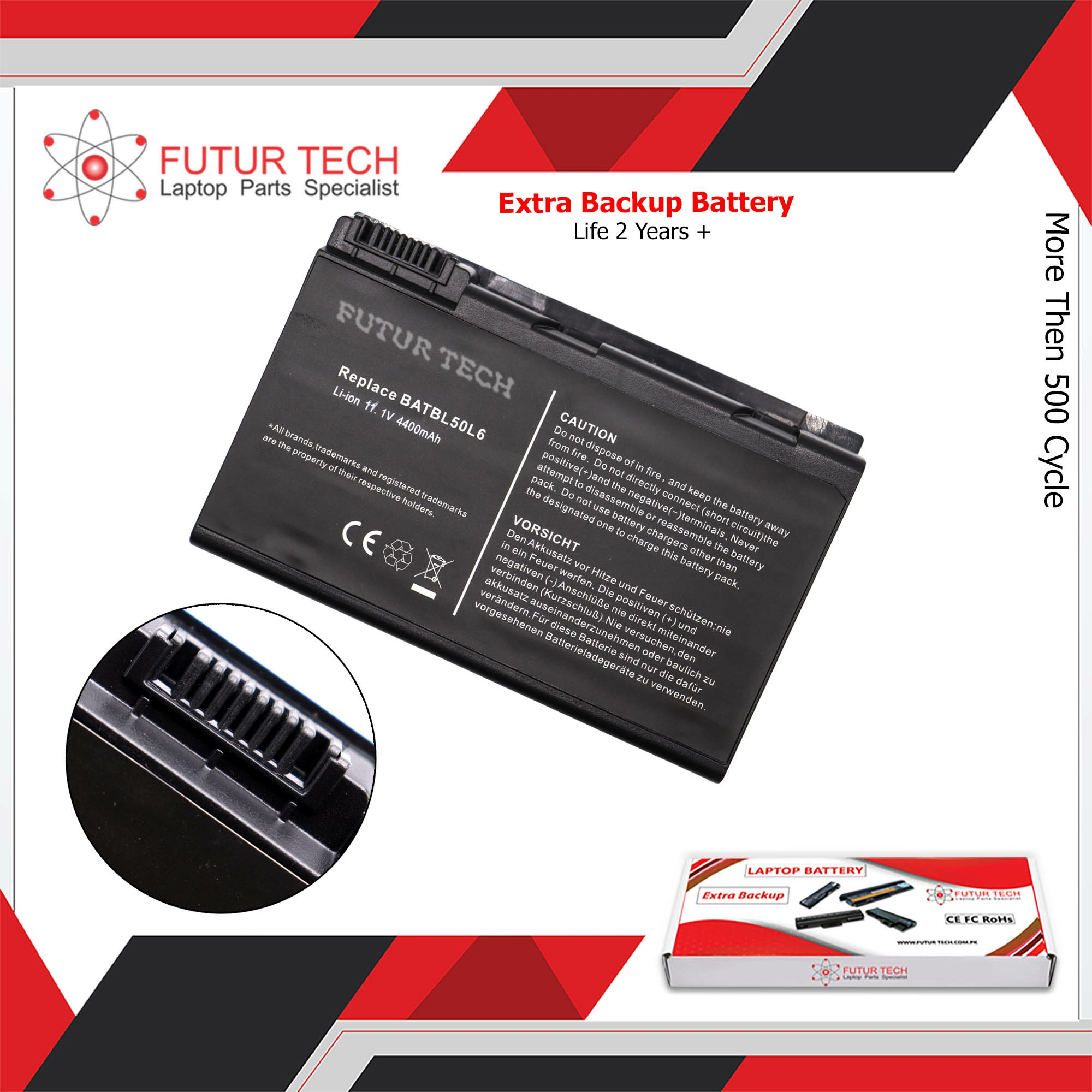 Laptop Battery best price in Karachi Battery Acer Travelmate 50L6/3600/3100 | 6 Cell