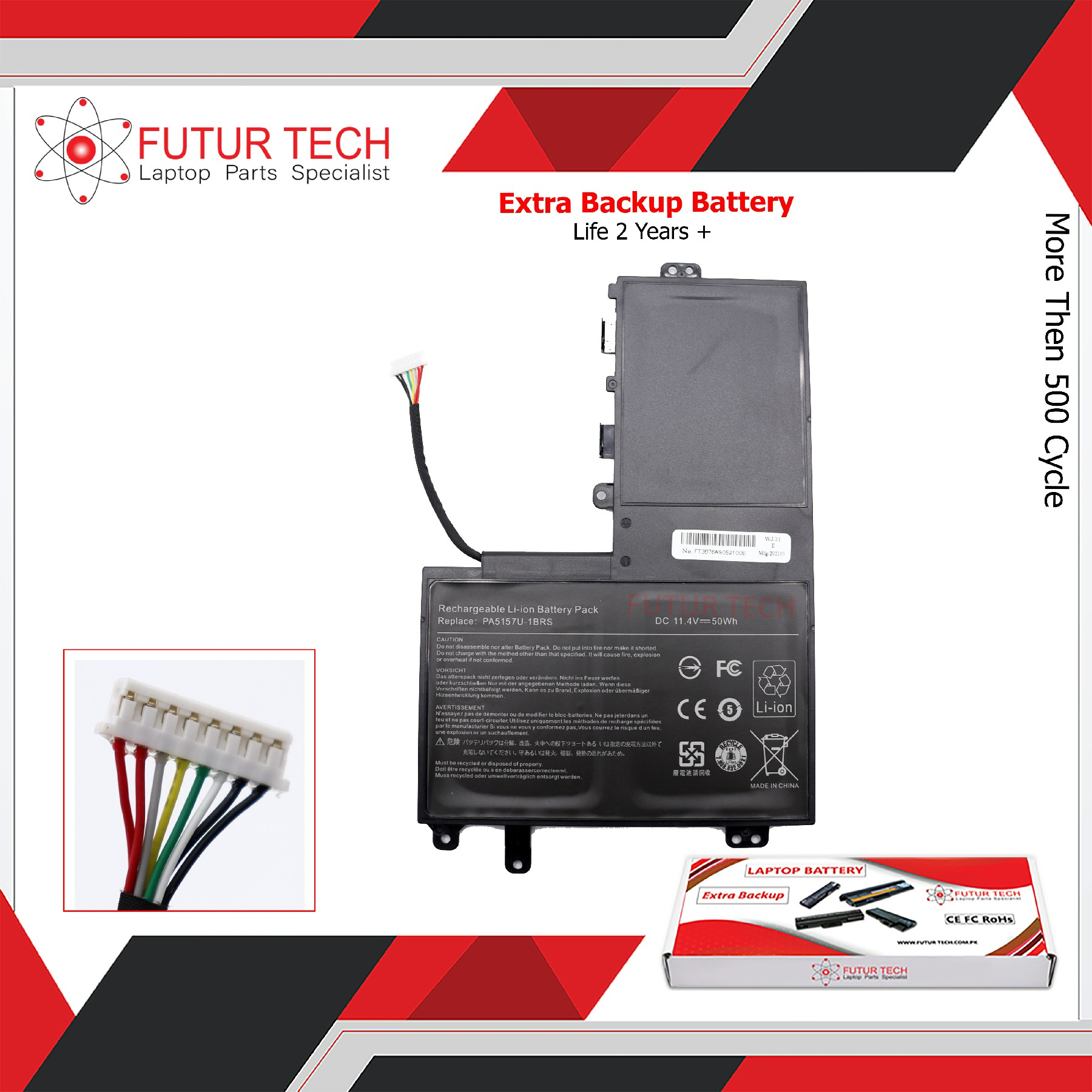 Laptop Battery best price in Karachi Battery Toshiba E45T/E55T/U40T/5157 | Internal
