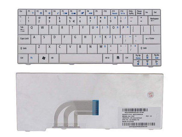 Laptop Keyboard best price in Karachi Keyboard Acer Aspire One ZG5/ZG6/ZA8/ZG8 | White