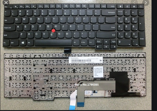 Laptop Keyboard best price in Karachi Keyboard Lenovo E550/ E555/ E560/ E565 | Black | WITH Pointer ORG [6985]